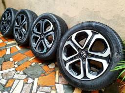 Jogo roda aro 17 Honda Hrv + 4 Pneus Michelin 215/55 /17 - EXCELENTES