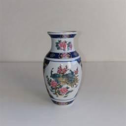 Vaso de Porcelana chinesa antigo pintado à mão pavão - leia