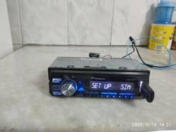 Vendo ou troco rádio  Pioneer , com Bluetooth,USB , auxílio e controle.
