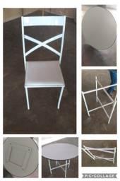 Mesas e cadeiras buffet