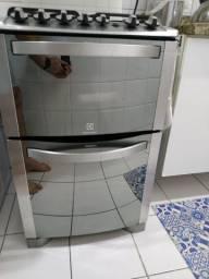 Fogão Inox Electrolux dois fornos