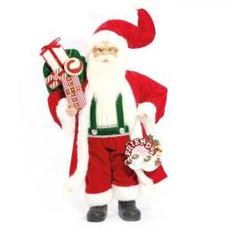 Papai Noel Must 41cm Festivo Vermelho Natal Friends - Magizi