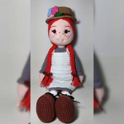 Boneca Anne with an E amigurumi