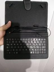 Teclado com capa celular ou tablet