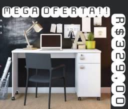 Mesa com rodinhas para escritório 0,75x1,35M