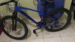 Bike aro 29 quadro alumínio tam17 toda shimano 21v zerada sem uso