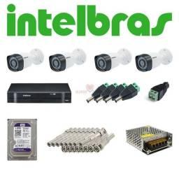Kit 4 Câmeras Intelbras (Instalado) R$1.299,00