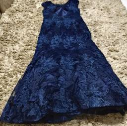 Vestido azul sereia