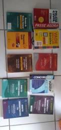 Lote de livros para concurso