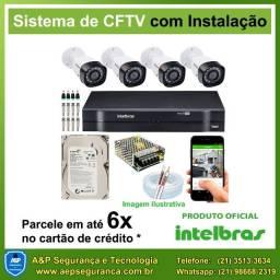 Câmeras de segurança CFTV intelbras a partir de R$ 1.299,00 (instalado)