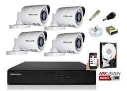 Kit com 4 câmeras instalação grátis.