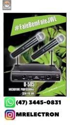Microfone JWL duplo sem fio U-585