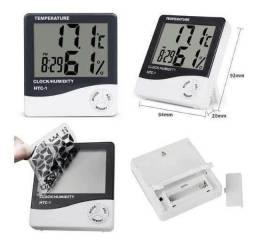 higrometro temperatura humidade relógio alarme