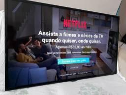 Barbada Tv Philips led 48 pol full hd acessa Netflix via cabo de rede e tá zerada