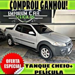 TANQUE CHEIO SO NA EMPORIUM CAR!!! FIAT STRADA 1.4 3 PORTAS CD ANO 2015 COM MIL DE EDA