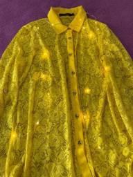 Camisa Social Amarela P