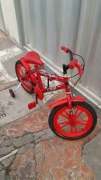 Bicicleta aro 16 homem aranha