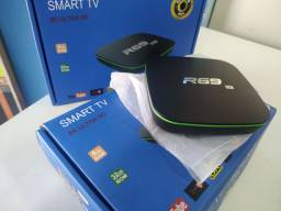 Transforma tv Smart Tv Box 32gb interno 4gb Ram Novo Android 9