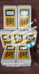 Máquinas de cartão de crédito e débito