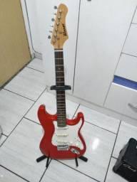 Guitarra Winner Strato e Amplificador Clark