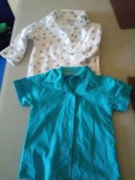 Camisas social tamanho 6 a 9 meses