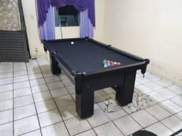 Mesa Charme e Jantar Cor Preta Tecido Preto Mod. TIOS8907