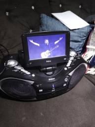 Rádio dvd MP3 Philco controle remoto