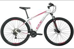bicicleta aro 29 shimano ox glide 19 bco/rosa