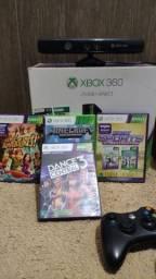 Xbox Super Slim Bloqueado Usado + 3 controles, 4 jogos e um Sensor Kinect
