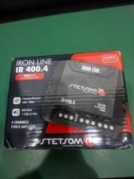 Módulo Amplificador Stetsom Iron Line IR 400.4 400W RMS 4 Canais 2 Ohms<br><br><br>
