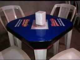Capa de mesa plástico ou madeira redonda e ou quadrada