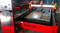 Maquina de corte a plasma e oxicorte cnc 1 1/4 - 1500 x 3000 mm - Estado de nova a venda