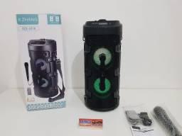 Caixa Xzhang com Microfone e alça portatil bluetooth