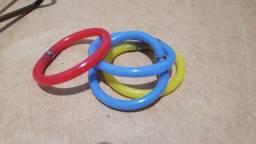 4 pulseiras caneta - coloridas