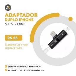 Adaptador Duplo Iphone (Carregador+fone)