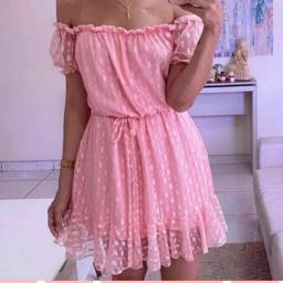 Vestido tule rosa