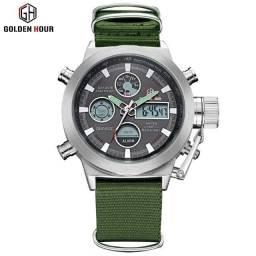 Relógio Militar Golden Hour Novoo.,
