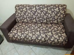 Conjunto de sofá 2 e 3 lugares sem uso