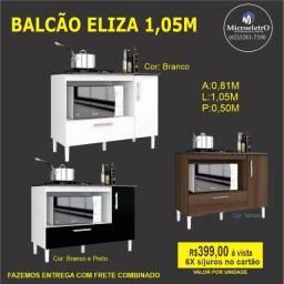 Balcão Eliza Preto Com Branco
