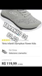 Tênis Olympikus flower feminino  tamanho 34