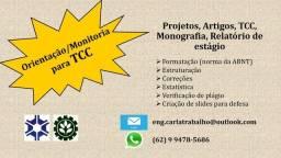 Orientação, monitoria de TCC, artigos, projetos - Agronomia