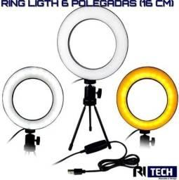 Iluminador Anel Ring Ligth Profissional 46cm 18p Tripé 2 M