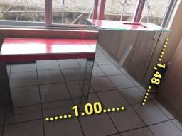balcão para recepção com espelho na frente valor R$ 600.00