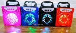 Caixinhas de Som Bluetooth Pendrive Cartão SD Rádio Fm Auxiliar e Led Novas na Caixa
