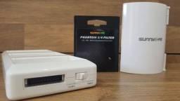 Carregador , filtro ND 8 e Wifi Estender