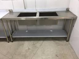 mesa bancada em aço inox ANSI 201