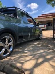 Vendo rodas 17 com pneus meia vida