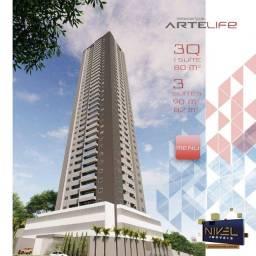 Título do anúncio: Apartamento com 3 dormitórios à venda, 80 m² por R$ 490.072 - Setor Leste Universitário- G