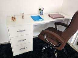 Mesa/ escrivaninha/ gavetas/ escritório/ multiuso MDF novo