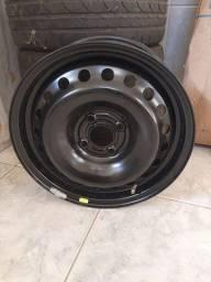 """Rodas de ferro 15"""" GM 4 furos e pneus 15"""""""